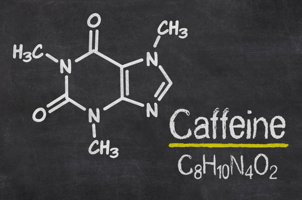 Koffein - chemische Formel