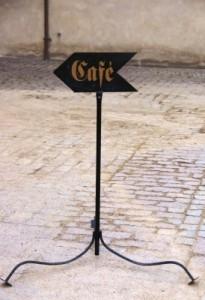 Kaffee-Schild