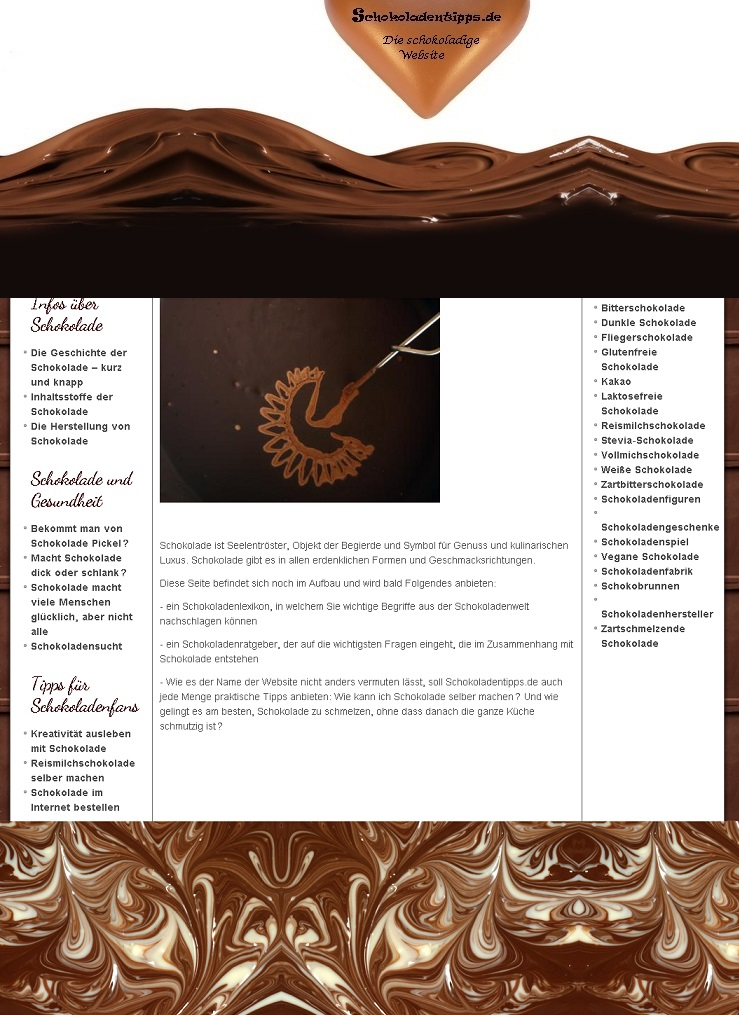 So hätte die Schokoladen-Website ausgesehen